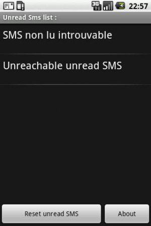 Reset Unread Sms